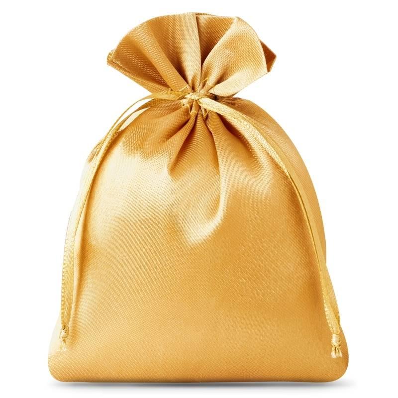 10 ks Saténové sáčky 6 x 8 cm - zlaté