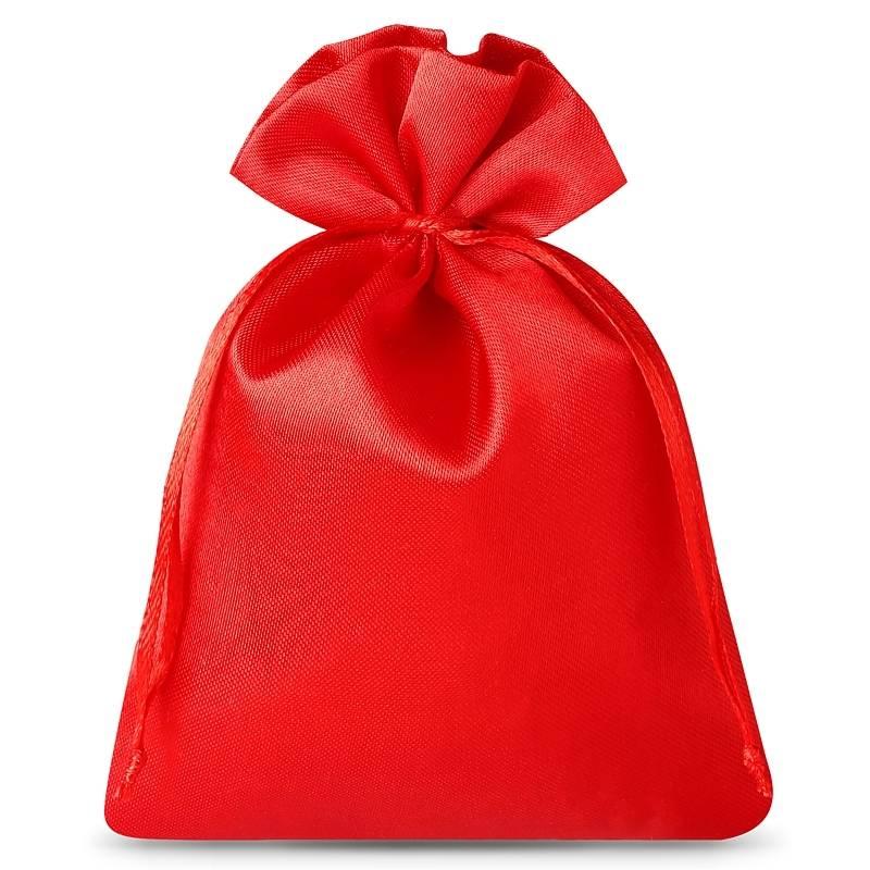 10 ks Saténové sáčky 6 x 8 cm - červené