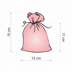 10 ks Jutové sáčky 12 x 15 cm - světlé přirozené Valentýn