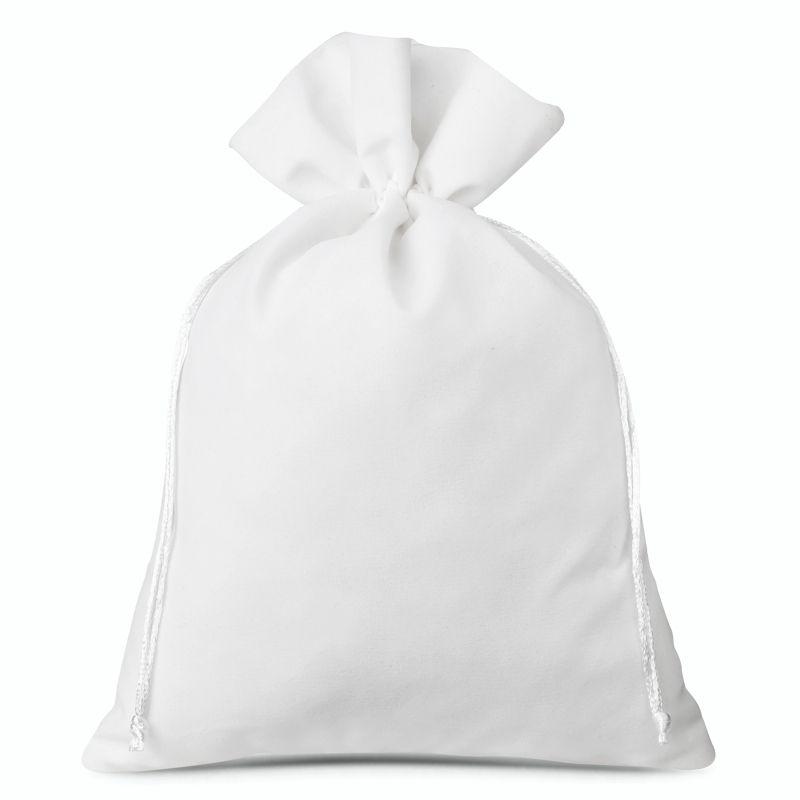 1 ks Sametové sáčky 30 x 40 cm - bíle