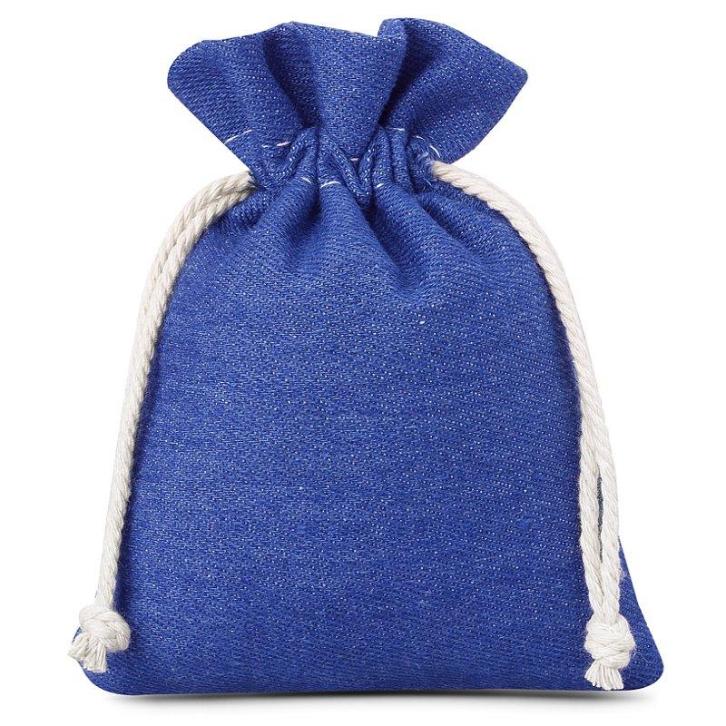 3 ks Džínové tašky 12 x 15 cm - modré