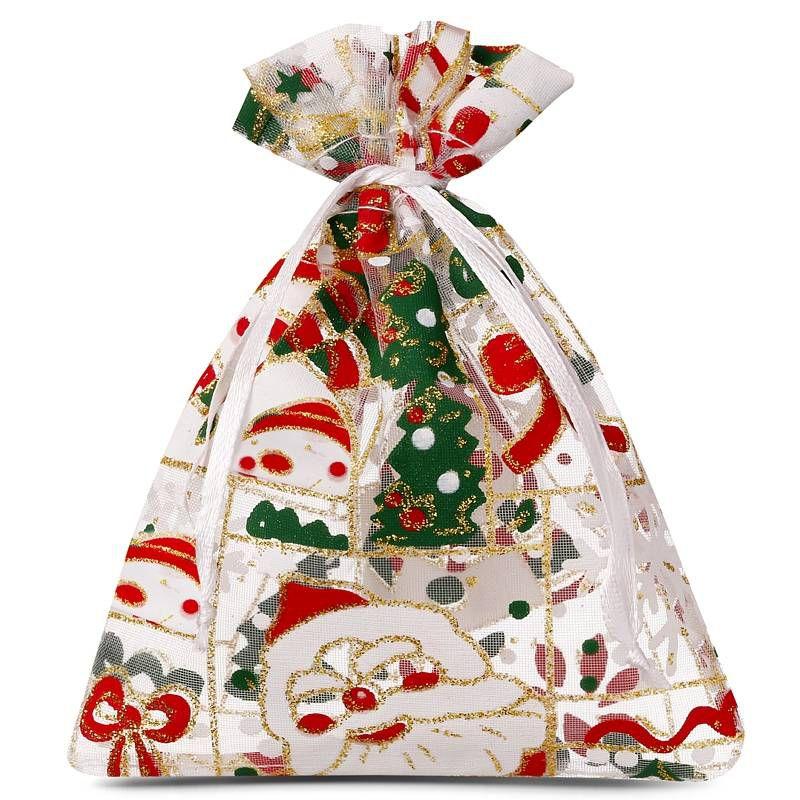 10 ks Organza tašky 22 x 30 cm - Vánoce / 5