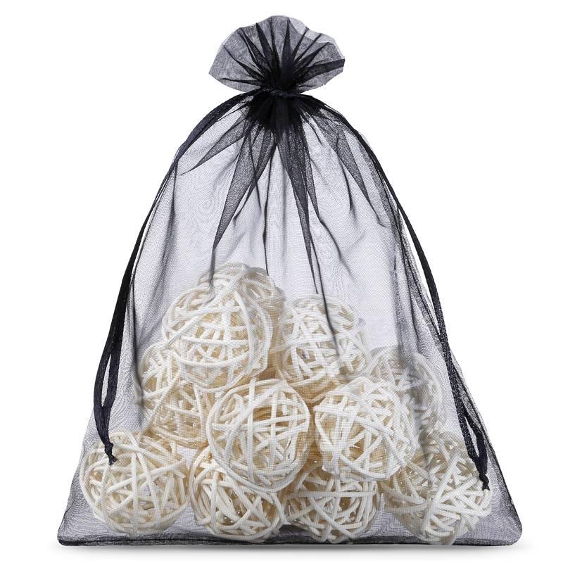 5 ks Organza tašky 40 x 55 cm - černé Dekorativní Organza tašky