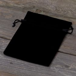 10 ks Sametové sáčky 10 x 13 cm - černé Sametové sáčky