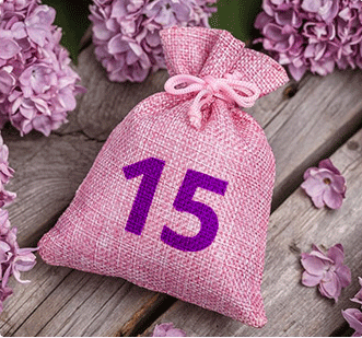 adventní růžová taška
