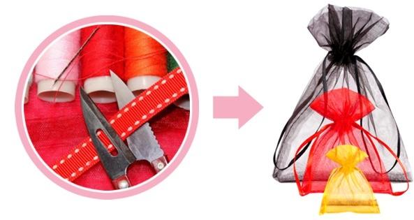 organza tašky personalizace