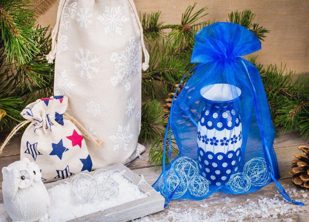 Díky sáčku vypadá dárek nejen elegantně, ale také originální.