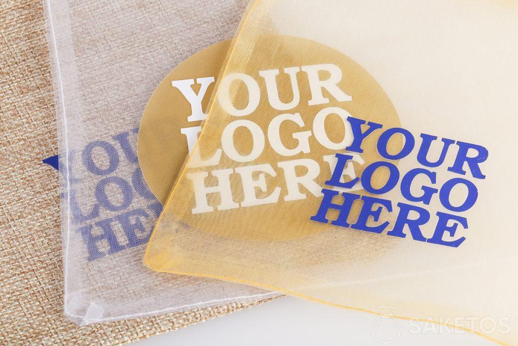 Tašky na reklamní pomůcky s logem podle vašeho výběru.