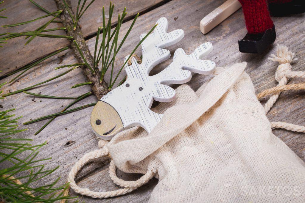 Látkové sáčky mohou být vánoční dekorace