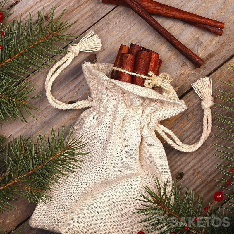 Vánoční kompozice v rustikálním stylu