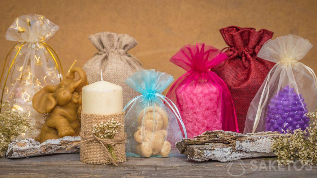 Sáčky se dokonale kombinují s ručně vyráběnými svíčkami