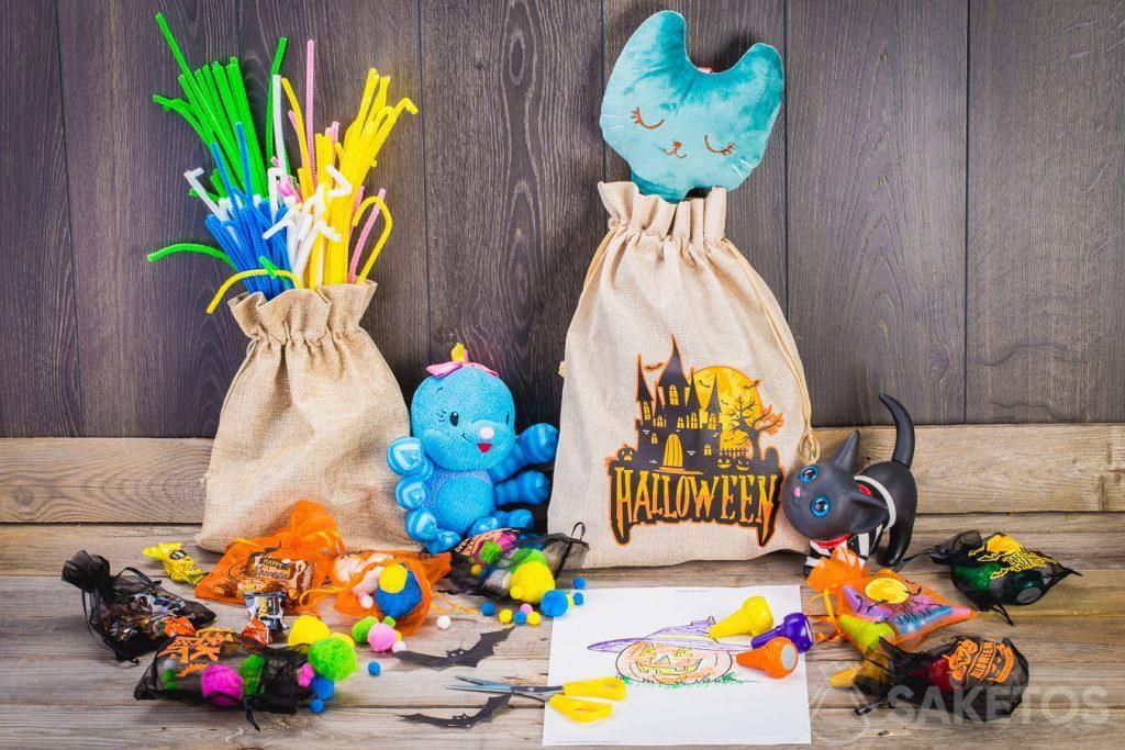 Díky sáčkům můžete snadno vyzdobit dětský pokoj na Halloween.