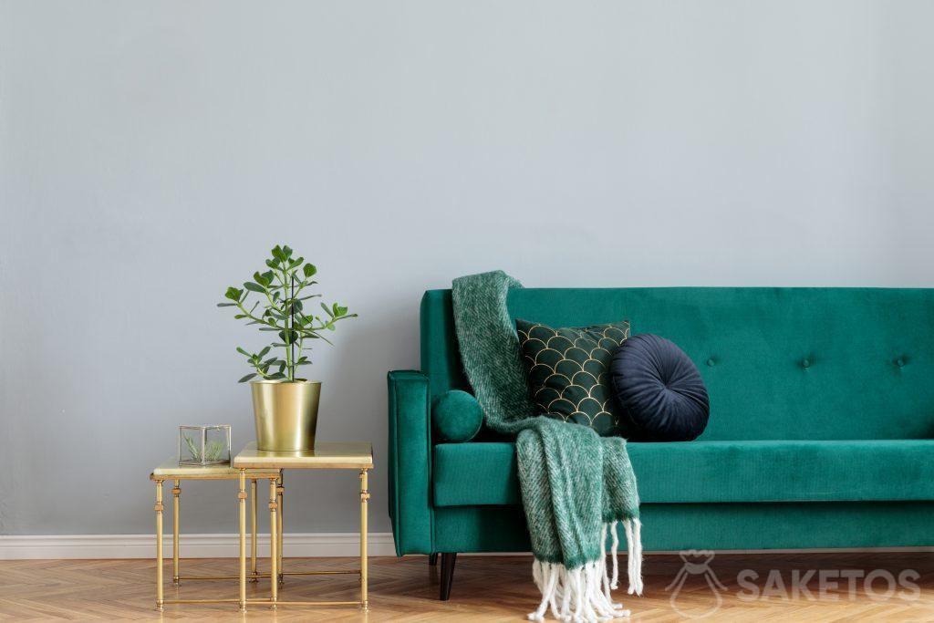 Velurový materiál se používá pro dekorace interiéru a tvorbu bytových dekorací