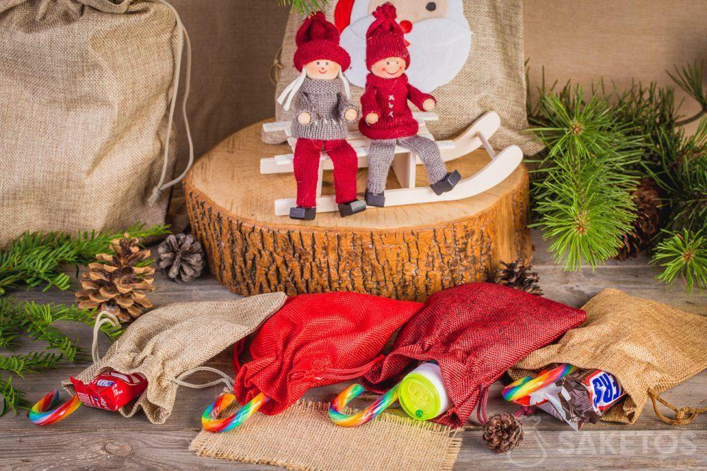 Sladkosti na Mikuláše můžete zabalit do textilních sáčků