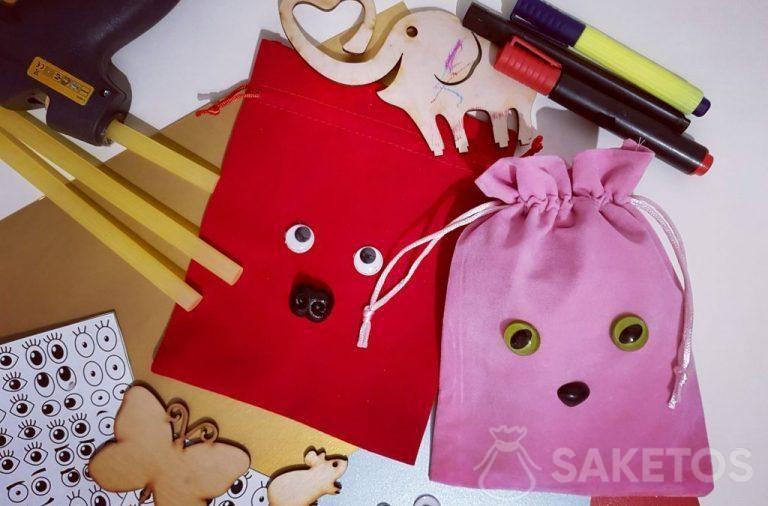 6. Zdobení sáčků na dárky - personalizované obaly DIY