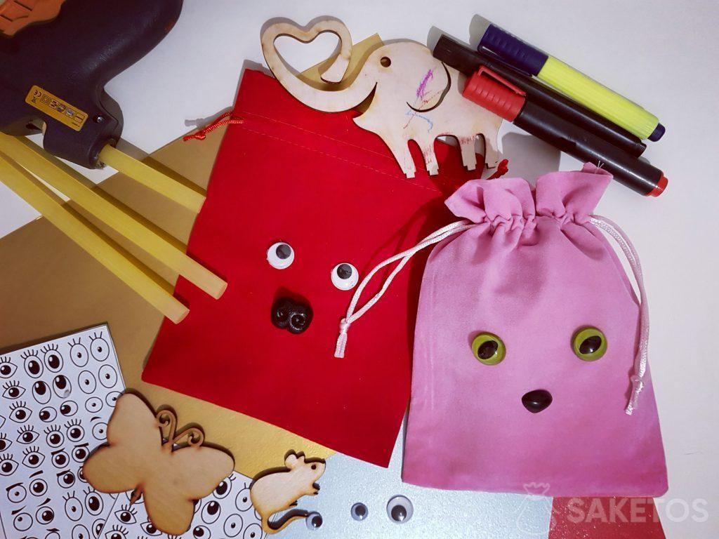 6.Zdobení sáčků na dárky - personalizované obaly DIY