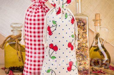 5. Lněné sáčky s potiskem pro zdobení kuchyně