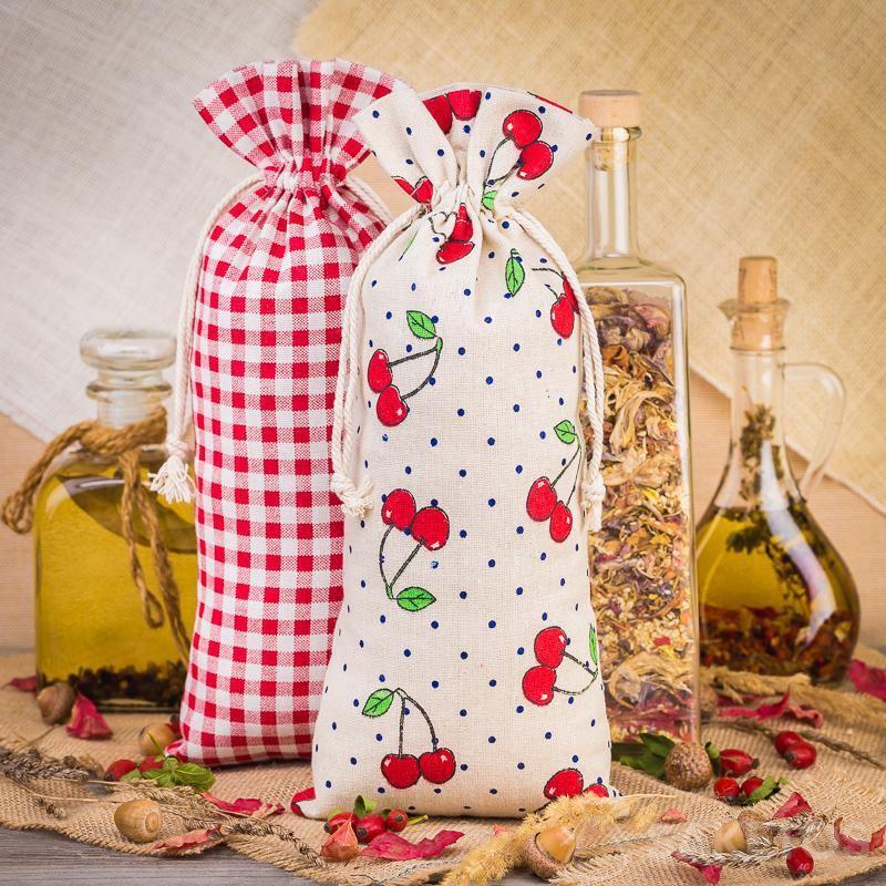 5.Lněné sáčky s potiskem pro zdobení kuchyně