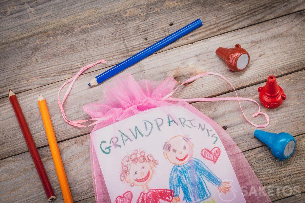 Laurel pro prarodiče zabalené v tašce