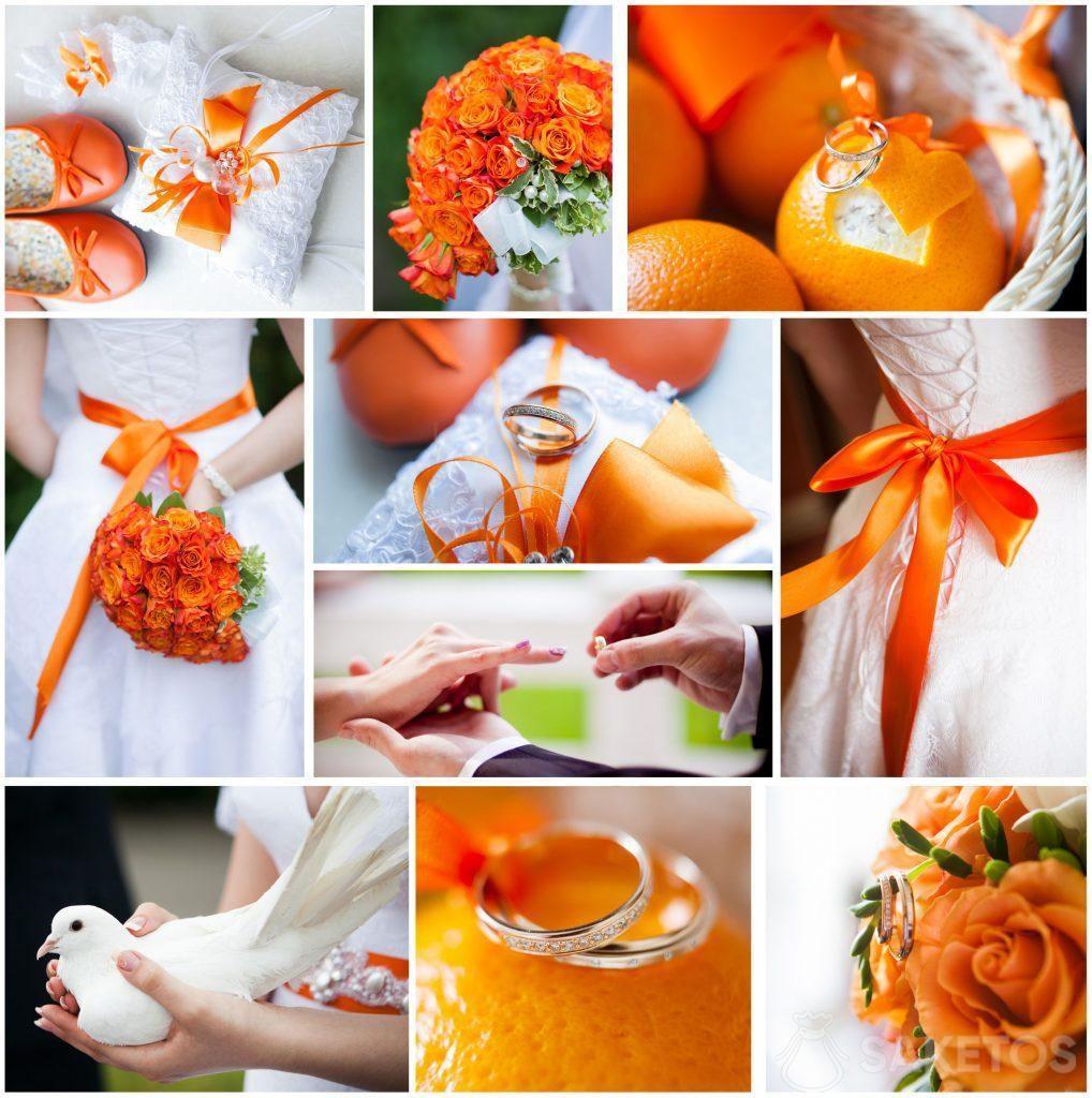 Hlavní barva svatby - oranžová