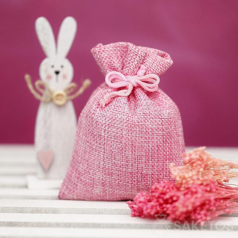 Materiálové tašky pro tvorbu ozdob na Velikonoce