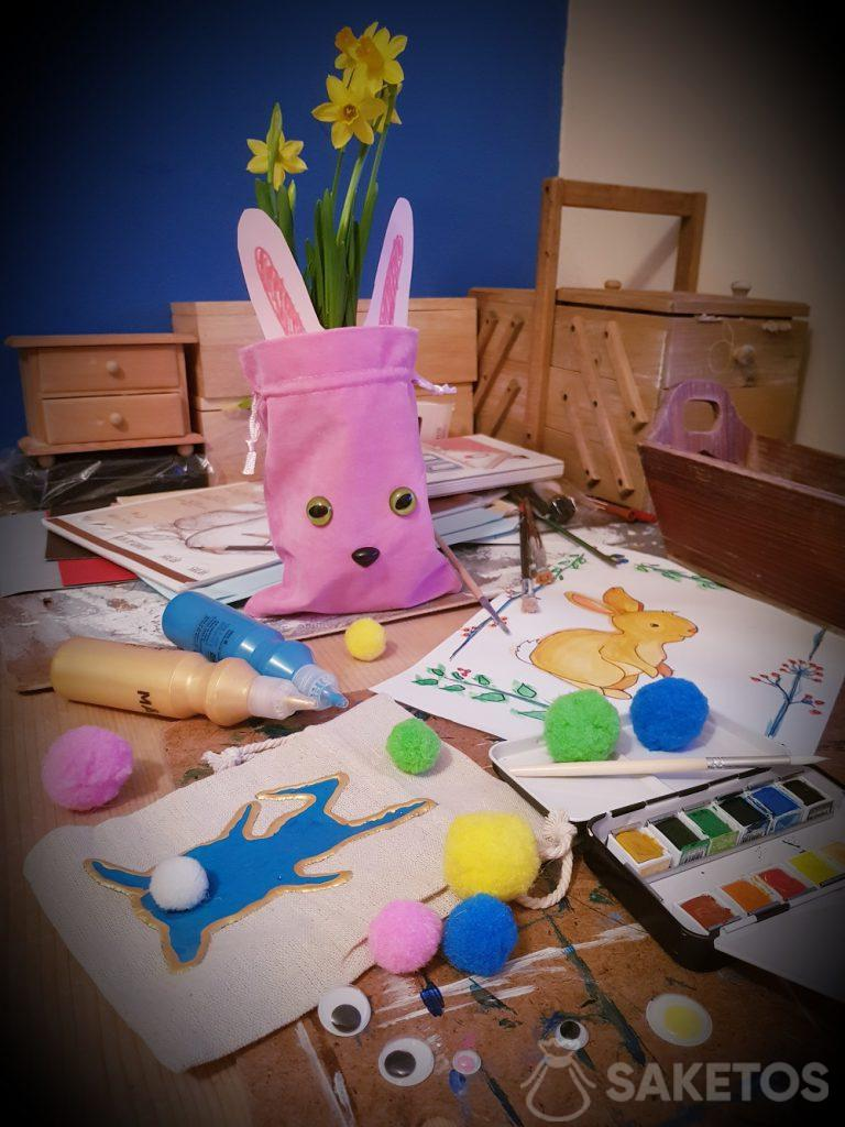 Kreativní s vaším dítětem - DIY tašky na Velikonoce