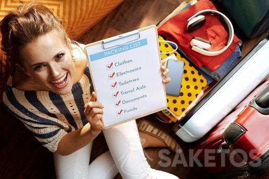 Před balením si připravte checklist na výlet.