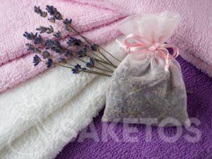 6.Levandulový vonný sáček dodá ručníkům krásnou vůni a poskytne ochranu před můrami.