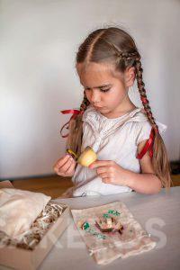 9.Lněné sáčky na dekorace - ruční hry pro děti