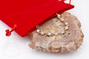 Velurový sáček na šperky