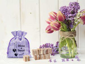 Svatební sáčky jako poděkování svatebním hostům