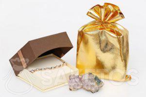 Metalické tašky zlaté
