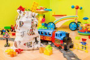 3.Materiálové sáčky jsou ideální pro skladování hraček a balení dárků pro děti.